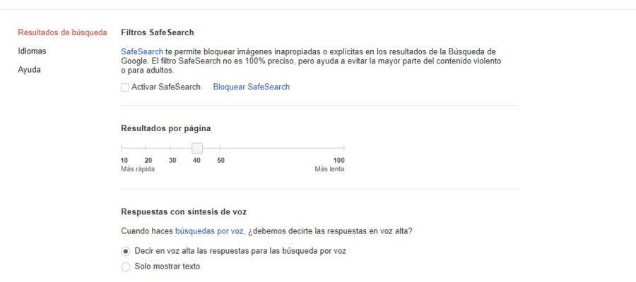 resultados por búsqueda