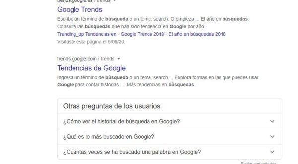 Modificar los resultados por página en google